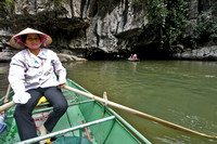 Tam Coc, a sort of Hahlong Bay on a river